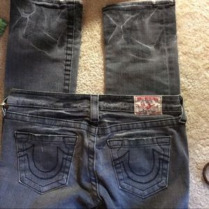 Classic TRUE Religion Pocket Grey Skinny Jeans